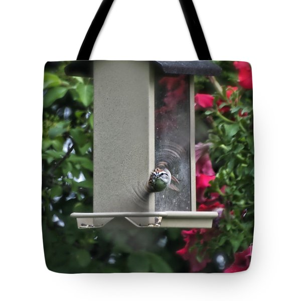 Tote Bag featuring the photograph Bird Time To Fly by Thomas Woolworth
