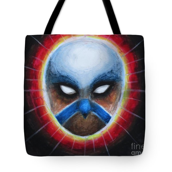 Bird Totem Mask Tote Bag