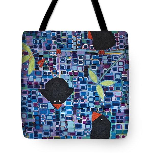 Bird Tricks Tote Bag