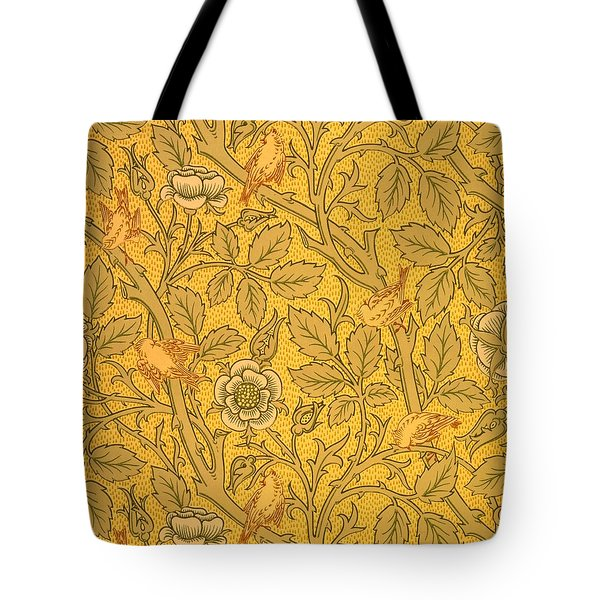 Bird Wallpaper Design Tote Bag by William Morris