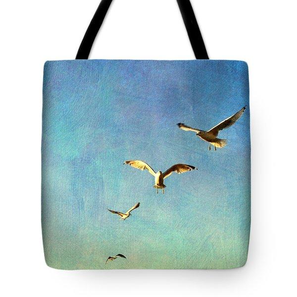 Birds Above Tote Bag
