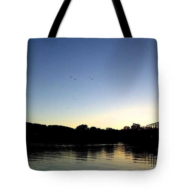 Birds And Blues Tote Bag