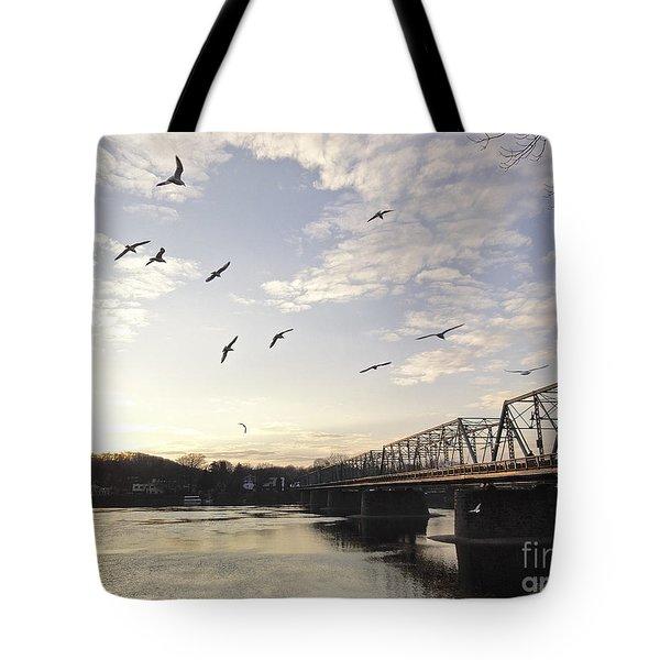 Birds And Bridges Tote Bag