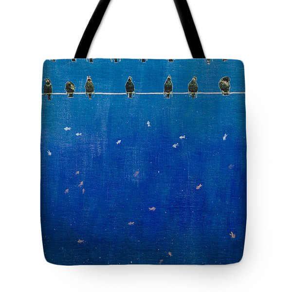 Birds And Fish Tote Bag by Stefanie Forck