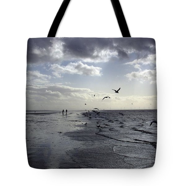 Birds At The Beach 2 Tote Bag