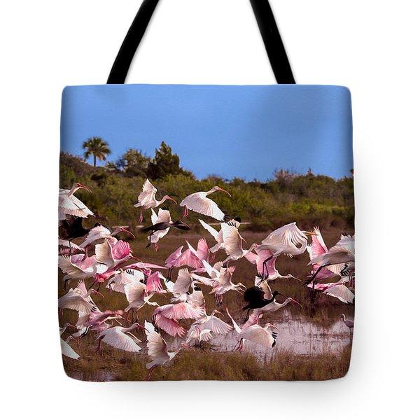 Birds Call To Flight Tote Bag