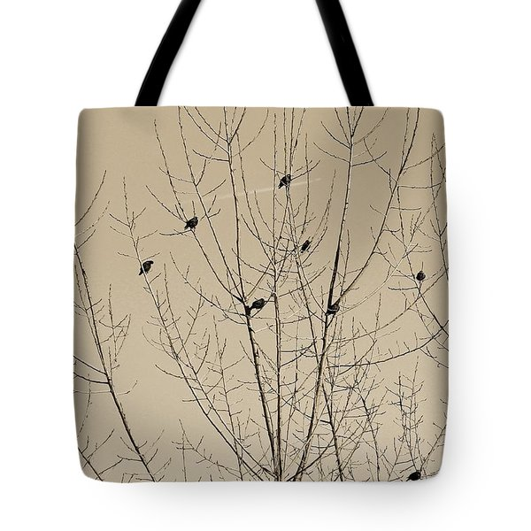 Birds Gather Tote Bag