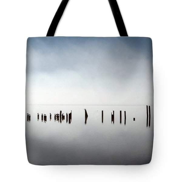 Birds In Fog Tote Bag
