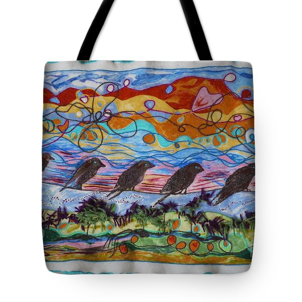 Birds Of A Feather 1 Tote Bag by Heather Hennick