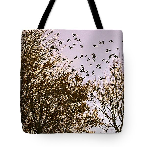 Birds Of A Feather Flock Together Tote Bag by Thomasina Durkay