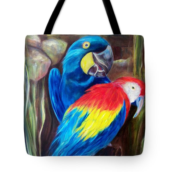 Bird's Of A Feather, Macaws Tote Bag