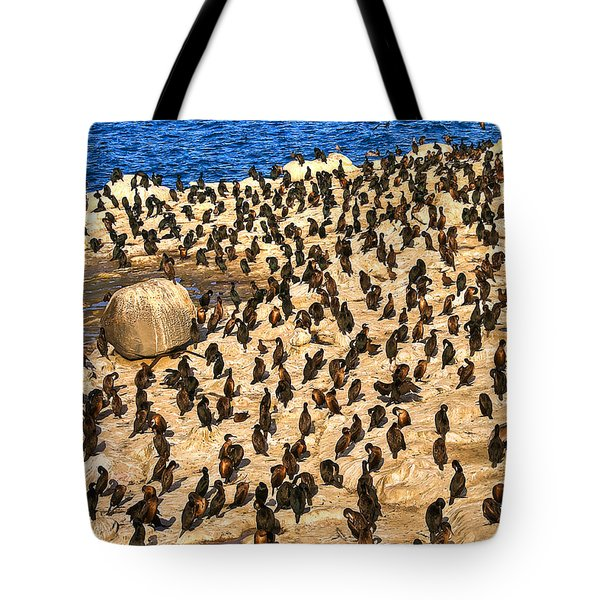 Birds Of A Feather Stick Together Tote Bag by Jim Carrell