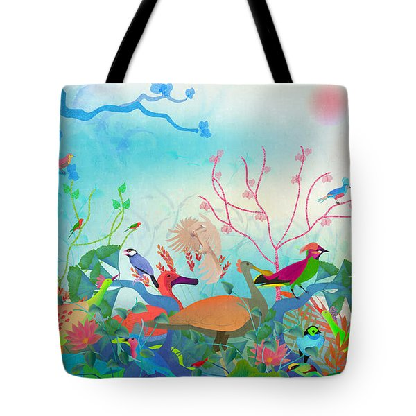Birds Of My Landscapes - Limited Edition  Of 15 Tote Bag by Gabriela Delgado