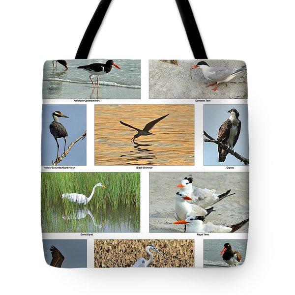 Birds Of North Carolina Coast Tote Bag