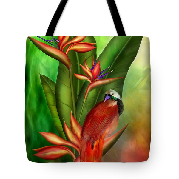 Birds Of Paradise Tote Bag by Carol Cavalaris