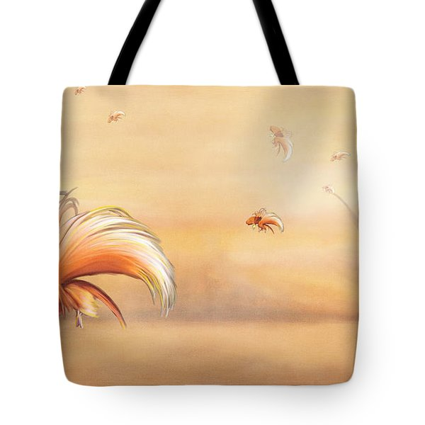 Birds Of Paradise In The Fog Tote Bag by Angela A Stanton