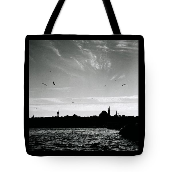 Birds Over The Golden Horn Tote Bag