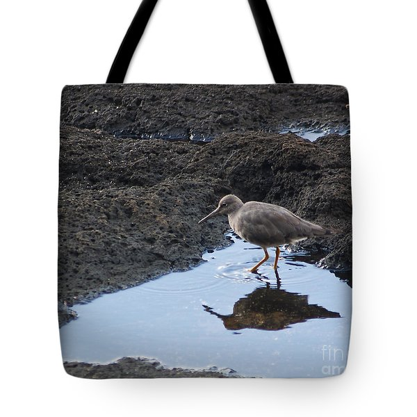 Tote Bag featuring the photograph Bird's Reflection by Belinda Greb