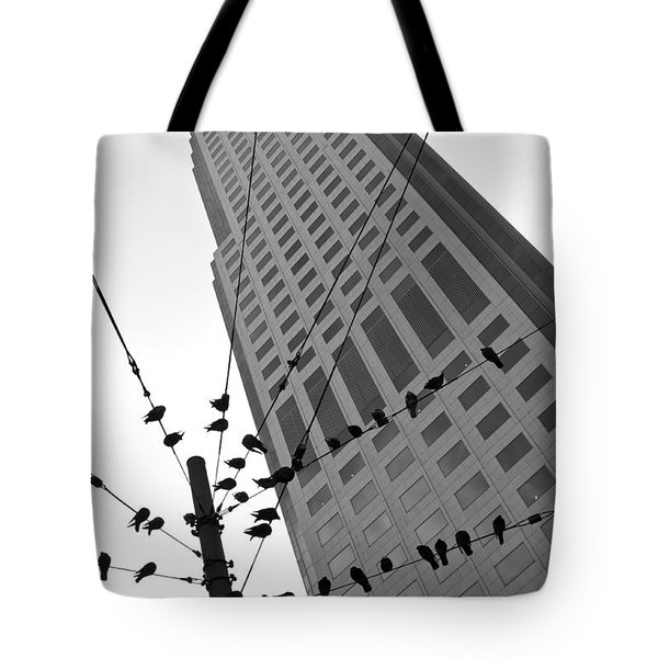 Tote Bag featuring the photograph Birds Station by Jonathan Nguyen