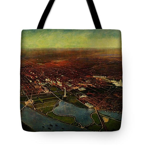 Birdseye View Of Washington 1916 Tote Bag