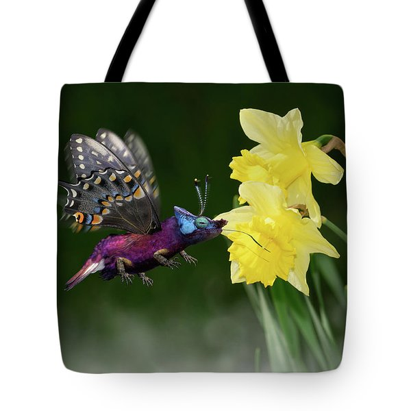 Birguana Taster Tote Bag by Arthur Fix