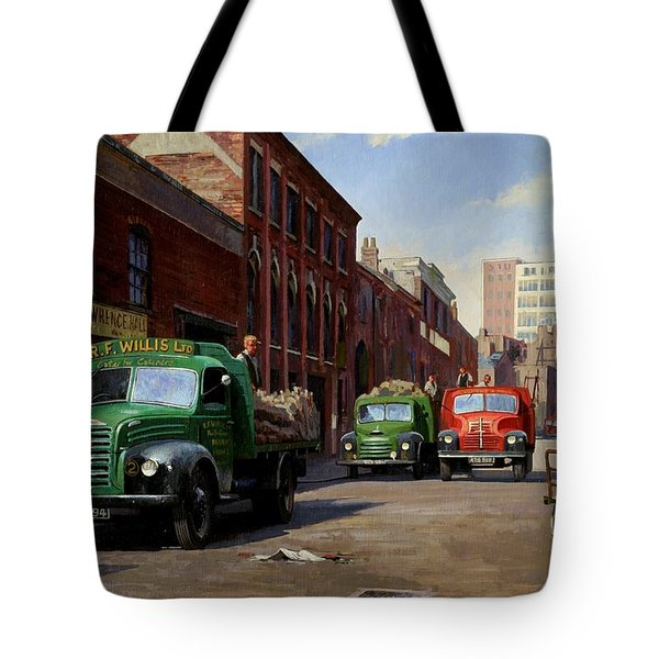 Birmingham Fruit And Veg Market. Tote Bag by Mike  Jeffries