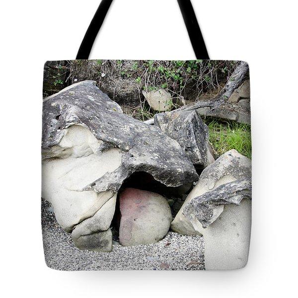 Birth Of A Boulder Tote Bag by Bob VonDrachek