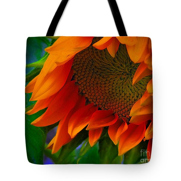Birth Of A Sunflower Tote Bag