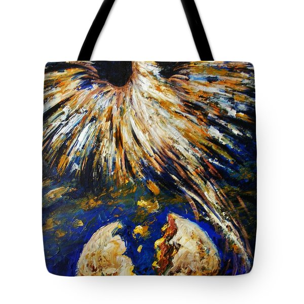 Tote Bag featuring the painting Birth Of The Phoenix by Karen  Ferrand Carroll