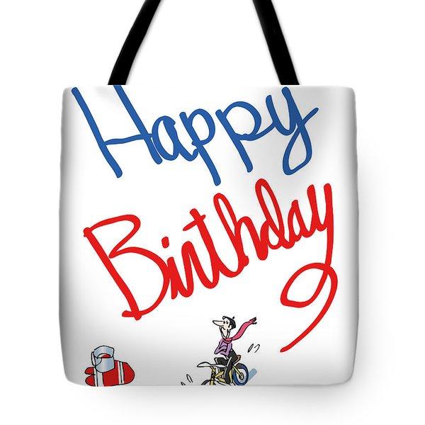 Birthday Bicycle Painter Tote Bag