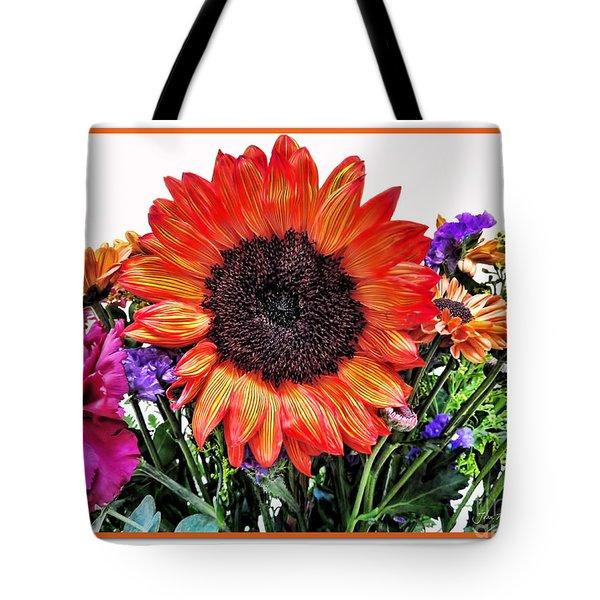 Birthday Bouquet Tote Bag by Joan  Minchak