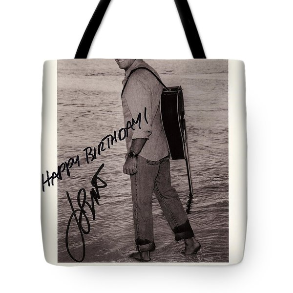 Birthday Wishes From Jimmy Buffett Tote Bag