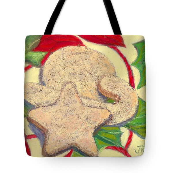 Tote Bag featuring the pastel Biscochitos-nm State Cookie by Julie Maas