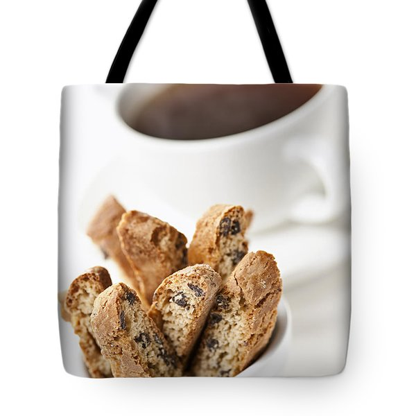 Biscotti And Coffee Tote Bag by Elena Elisseeva