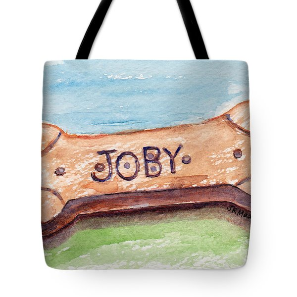 Tote Bag featuring the painting Biscuit For Your Dog by Julie Maas