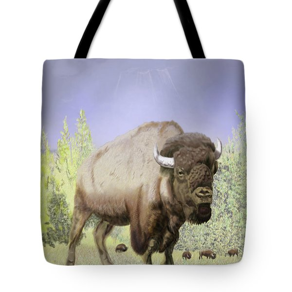 Bison On The Range Tote Bag