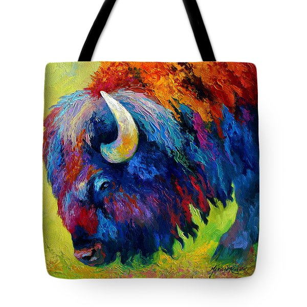 Bison Portrait II Tote Bag