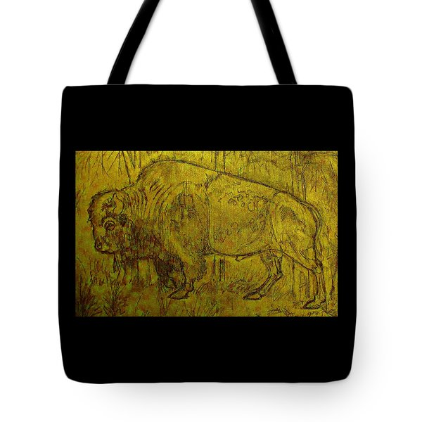 Golden  Buffalo Tote Bag