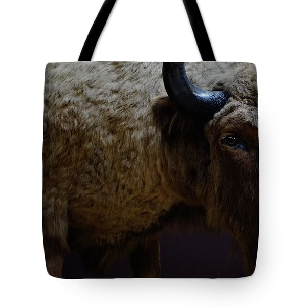 Bison Stuffed Tote Bag
