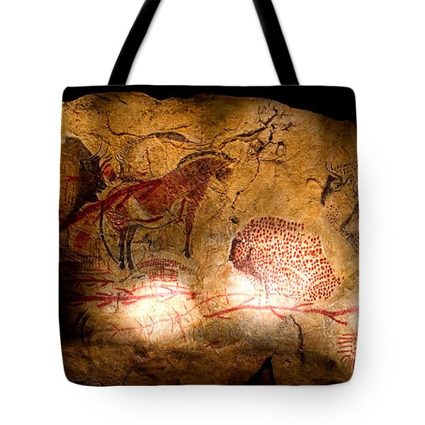 Bisons Horses And Other Animals Tote Bag