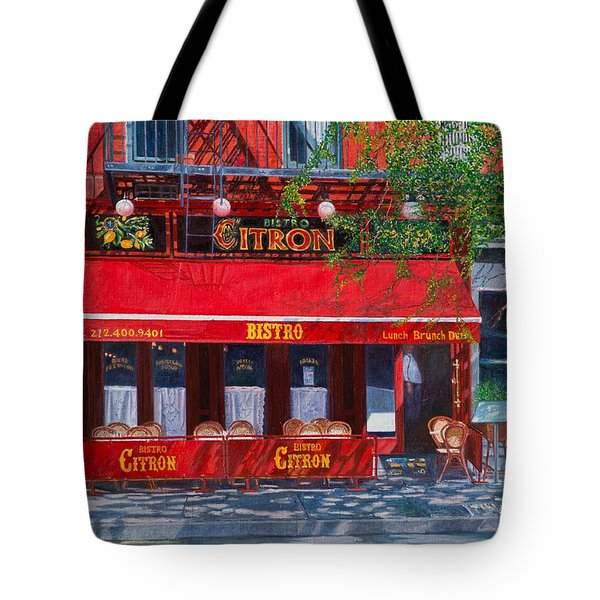 Bistro Citron New York City Tote Bag by Anthony Butera
