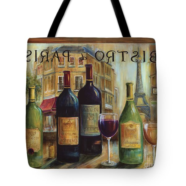 Bistro De Paris Tote Bag