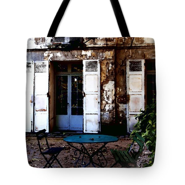 Tote Bag featuring the photograph Bistro Table In Montmartre by Jacqueline M Lewis