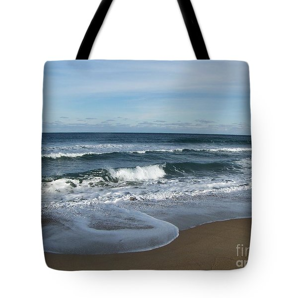 Tote Bag featuring the photograph Winter Beach  by Eunice Miller