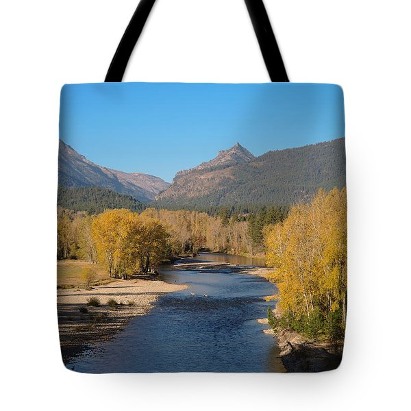 Bitterroot River Fall Tote Bag by Joseph J Stevens