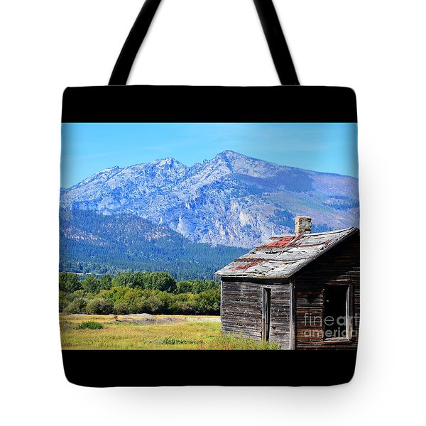 Tote Bag featuring the photograph Bitterroot Valley Cabin by Joseph J Stevens