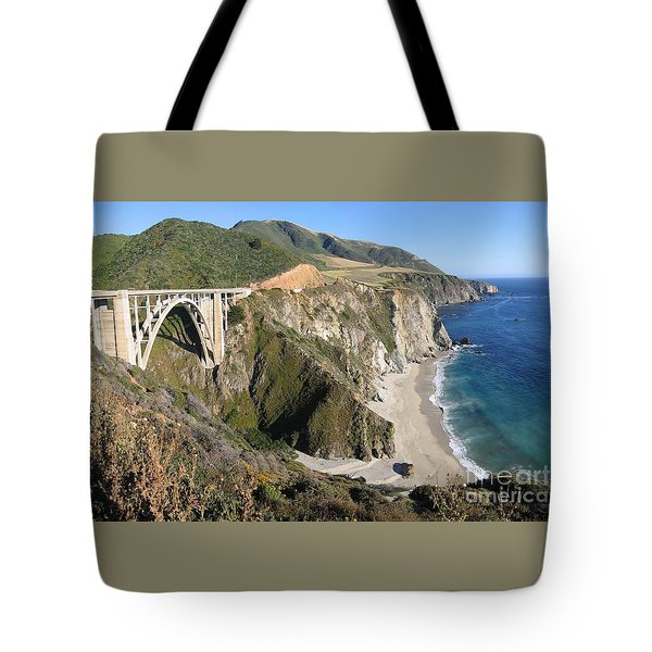 Tote Bag featuring the photograph Bixby Bridge by James B Toy