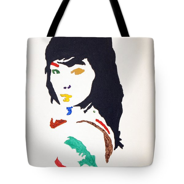 Tote Bag featuring the painting Bjork by Stormm Bradshaw