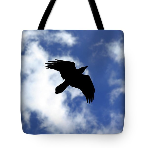 Black Above Tote Bag