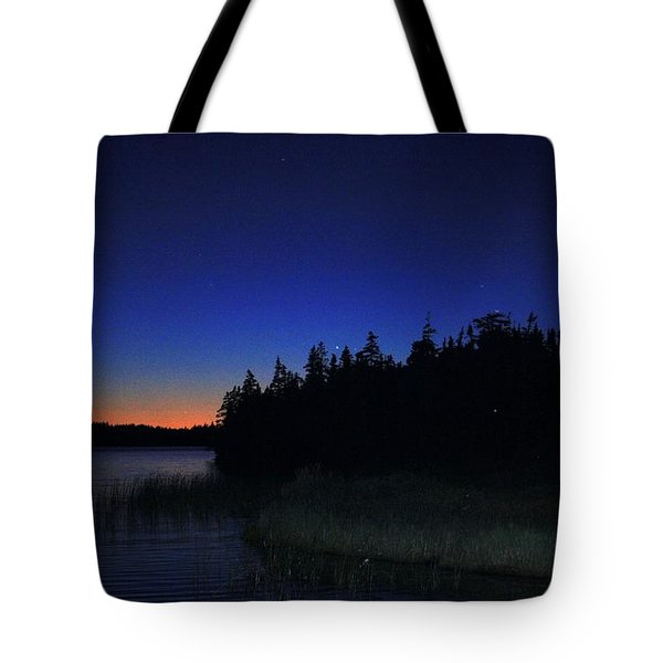 Black And Blue Sky Tote Bag